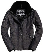 Superdry Quilted Athletic Windcheater, Giacca Sportiva Uomo, Nero (Black/Black Mega Grit), Small (Taglia produttore:S)