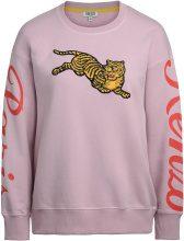 Felpa Kenzo Jumping Tiger rosa con maxi patch