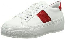 Bronx Sahar, Sneaker Donna, Bianco (White/Red 2065), 39 EU