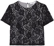 FIND Blusa Donna , Nero (Black/white Check), 40 (Taglia Produttore: X-Small)