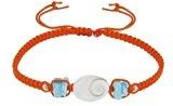 Gioello Les Poulettes - Bracciale arancione con Larimar e occhio Santa Lucia