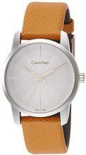 Calvin Klein Orologio Analogico Quarzo da Donna con Cinturino in Pelle K2G231G6