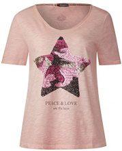 Street One 311454, T-Shirt Donna, Rosa (Studio Rose 30978), 48 (Taglia Produttore: 42)