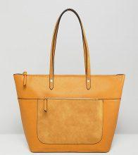 Accesorize - Emily - Maxi borsa gialla invecchiata