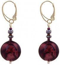 Amanti Venezia-Bracciale in vetro di Murano, con perline ametista Venezia-Orecchini a goccia