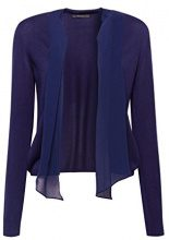 ESPRIT Collection 078eo1i004, Cardigan Donna, Blu (Navy 400), Medium