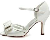 ElegantPark HP1507 Sandali da sposa col tacco peep toe scarpe da sposa