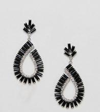 Orecchini pendenti neri con decorazione gioiello