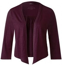 Cecil 312346, Cardigan Donna, Rosso (Deep Loganberry 11343), X-Small