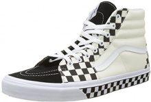 Vans Sk8-Hi, Sneaker a Collo Alto Unisex-Adulto, Nero (Checker Sidewall), 45 EU