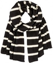 PIECES Pcjiva Long Scarf, Sciarpa Donna, Multicolore (Black), Taglia unica