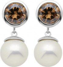 Burgmeister Jewelry - Orecchini a lobo da donna con zirconia cubica, argento sterling 925, cod. JHE1085-223