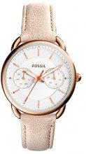 Fossil-Orologio da donna al quarzo con Display analogico e braccialetto in pelle ES4007, colore: beige