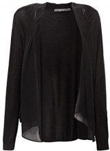 ESPRIT Collection 078eo1i004, Cardigan Donna, Nero (Black 001), Medium