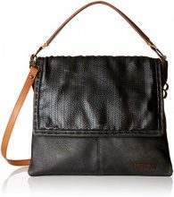 Bulaggi Ashley Messenger - Borsa a mano Donna, Nero (Schwarz), 30x8x34 cm (B x H T)