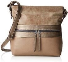 Tom Tailor 24412, Borsa a tracolla Donna, Beige (Beige (taupe 21)), 8x30x31 cm (B x H x T)