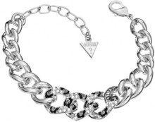 Guess donna-Cinturino lega rodinizzato bianco UBB514_4, lega metallica, colore: Argento, cod. UBB51472