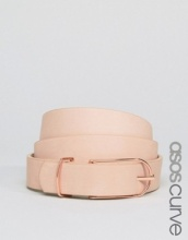 ASOS CURVE - Cintura basic sottile e oblunga da indossare sui fianchi e in vita