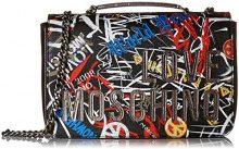 Love Moschino Borsa Digital Print Pvc - Borse a secchiello Donna, Nero, 6x18x29 cm (B x H T)