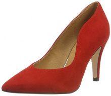 CAPRICE 22412, Scarpe con Tacco Donna, Rosso (Red Suede 530), 38 EU