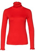 Marc Cain Essentials Marccaindament-Shirts+E4824J50, T-Shirt Donna, Rosso (Scarlet), 40