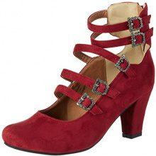 Andrea Conti3004501 - Scarpe con Tacco Donna, Rosso (Rot (Vino)), 41