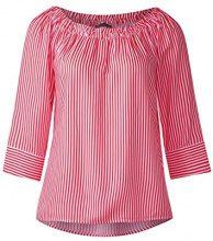 Street One 340947 Odetta Striped, Blusa Donna, Rot (Hibiscus Red 21346), 40 (Taglia Produttore: 34)