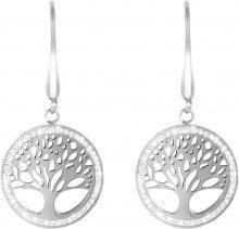 Orecchini l'albero della vita in acciaio e cristalli per Donna