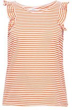 edc by Esprit 068cc1k014, T-Shirt Donna, Arancione (Red Orange 825), Medium