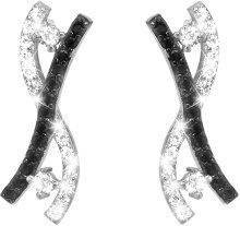 Orecchini argento 925 e zirconi bianchi e neri