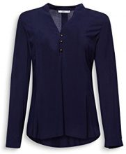 edc by Esprit 107cc1f016, Camicia Donna, Blu (Navy 400), Medium
