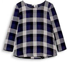 ESPRIT 117ee1f015, Camicia Donna, Multicolore (Navy 400), 44 (Taglia Produttore: 38)