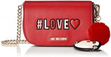 Love Moschino Borsa Pu - Borse a spalla Donna, Rosso, 6x13x17 cm (B x H T)