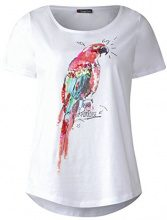 Street One 312177, T-Shirt Donna, Multicolore (Shiny Grey Melange 31339), 46 (Taglia Produttore: 42)