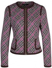 Marc Cain Collections KC 31.23 J12 Cappotto Donna, Multicolore (Pop Pink 268) 42