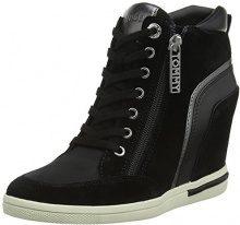 Tommy Hilfiger Mid Sneaker Wedge, Scarpe da Ginnastica Basse Donna, Nero (Black 990), 40 EU