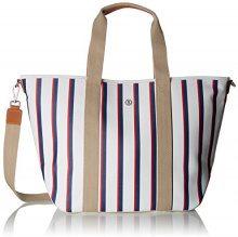 Bogner 2484073-, Borsa a mano Donna, Multicolore (Mehrfarbig (Stripes)), 18x35x38 cm (B x H x T)