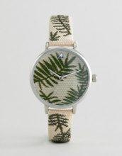 Orologio intrecciato con foglie di palma ricamate