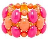 Donna-braccialetto placcato oro Justwin parte indora vetro multicolore - plastica 1291corpink