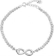 Bracciale infinito in argento 925 rodiato per Donna