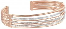 Bracciale bangle small in ottone rosato e glitter per Donna