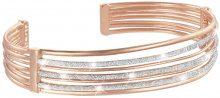 Bracciale bangle small in ottone rosato e glitter per Donna