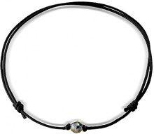 Pearls & Colors PC-CMT10 - Collana corta in argento 925 con perla coltivata di Tahiti, 35 cm