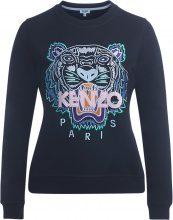 Felpa Kenzo nera con tigre multicolore