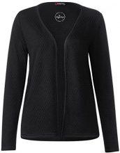 Street One Short Structured Jacket, T-Shirt Donna, Nero (Black 10001), 46 (Taglia Produttore: 40)