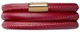 Leather Bracelet 57cm, Rosso