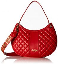 Love Moschino Borsa Quilted Nappa Pu - Borse a secchiello Donna, Rosso, 8x27x37 cm (B x H T)