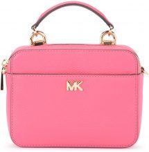 Tracolla Michael Kors Mott Mini in pelle martellata rosa