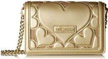 Love Moschino Borsa Embossed Lamb Pu - Borse a spalla Donna, Oro, 6x14x21 cm (B x H T)