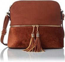 SwankySwans Iris Day Crossbody - Borse a tracolla Donna, Marrone (Tan Brown), 8x23x20 cm (W x H x L)